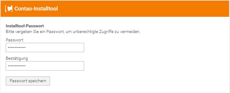 Contao Installtool Passwort