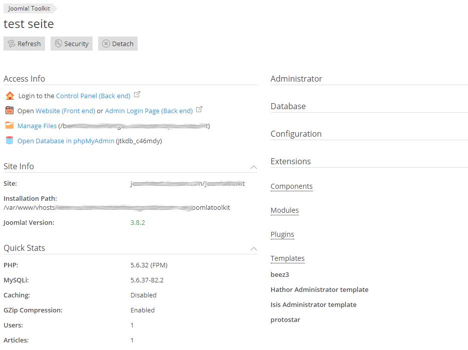 Joomla!-Toolkit Details