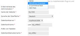 Neu: Installations-Sets für WordPress