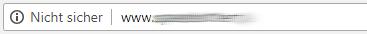 unverschlüsselte Webseiten im Chrome 68 nicht sicher
