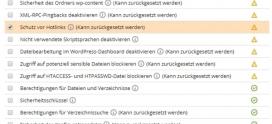 Update WordPress-Toolkit: 8 neue Sicherheitsoptionen
